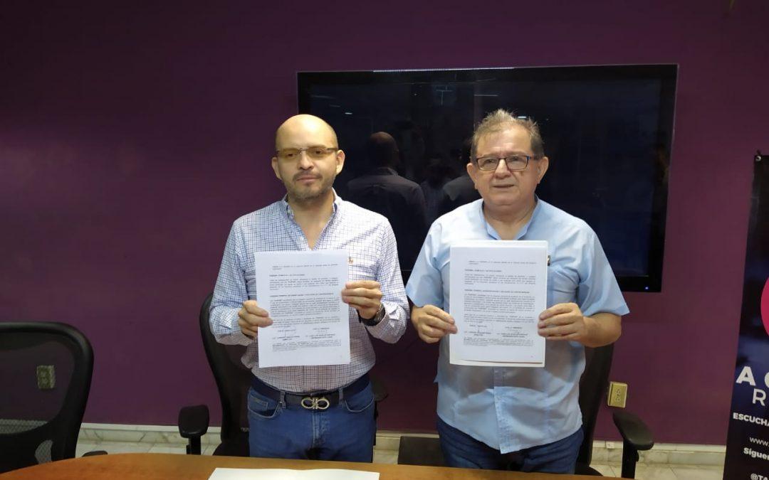 Firma acuerdo de colaboración para el modelo de educación dual, con Comunicaciones Carrizal S.A. de C.V. (Tabasco Hoy radio).