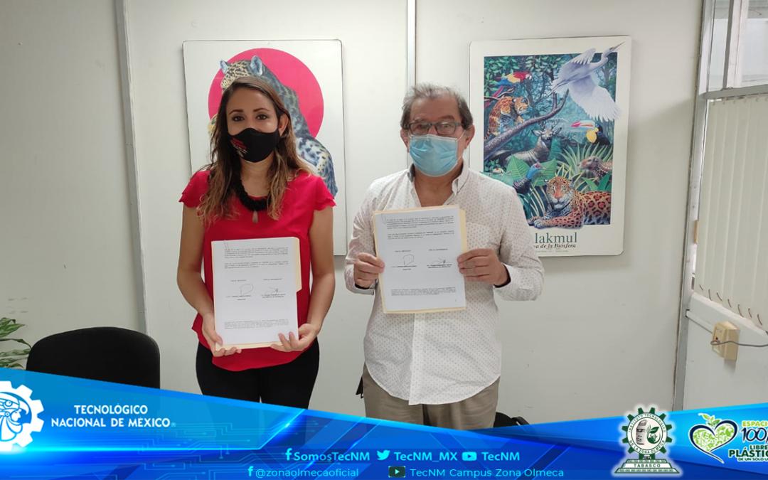 TECNM CAMPUS ZONA OLMECA Y LA SEMARNAT, FIRMAN CONVENIO MARCO DE COLABORACION ACADÉMICA, CIENTÍFICA Y TECNOLÓGICA.